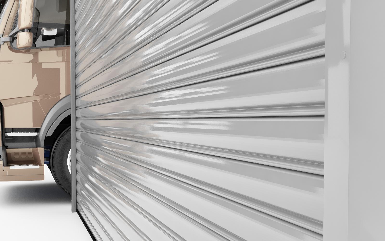 דלתות גלילה חשמליים למחסן חנויות תריסי גלילה לבית העסק שלט רחוק לשער חשמל