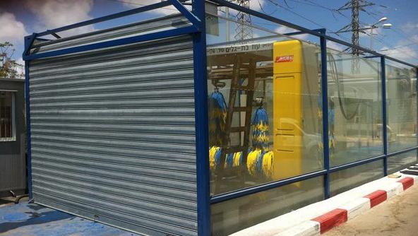 תריס אלומיניום שער חשמלי מתרומם לבית העסק בחירת צבעים