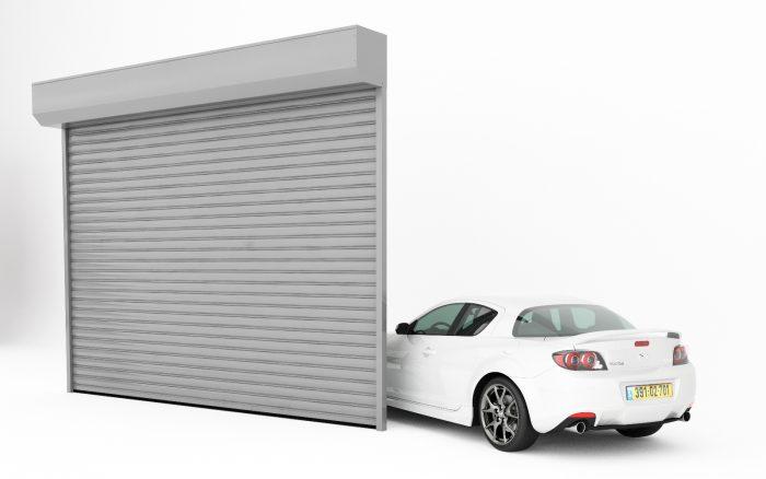 תריסים מהירים מאלומיניום דלתות גלילה לעסק או לבניין מעוצב